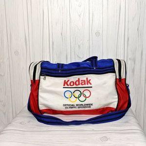 Vintage Kodak Olympic Sponsor Patriotic Duffel Bag